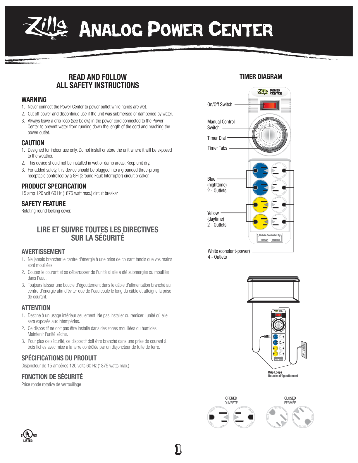 Analog Power Center Instructions