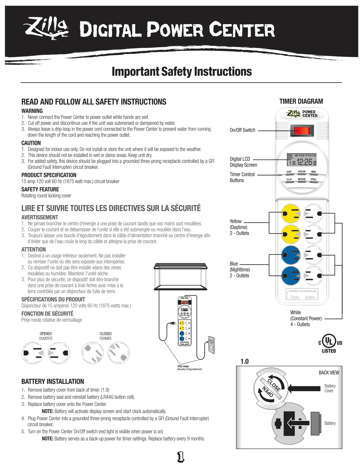 Digital Power Center Instructions