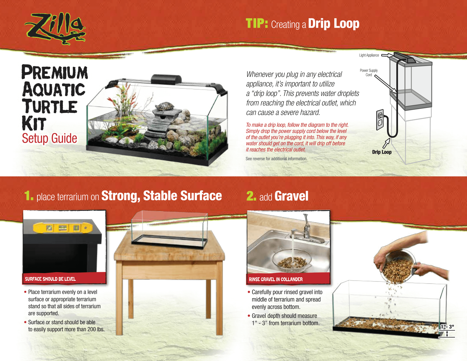 Zilla Premium Aquatic Turtle Kit Setup Guide