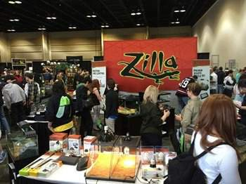 Zilla reptile products at trade show