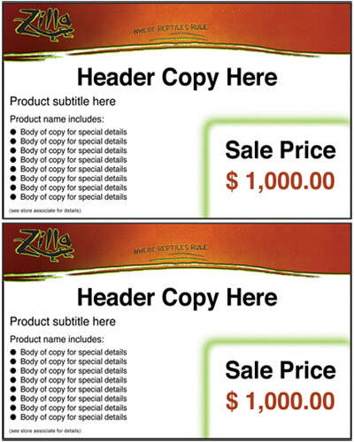 Zilla 2-Up Retail Sheet tag