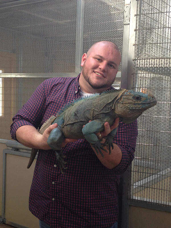Ryan McVeigh with lizard.