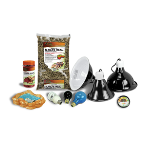 Zilla Deluxe 36L XL Bearded Dragon Kit Contents