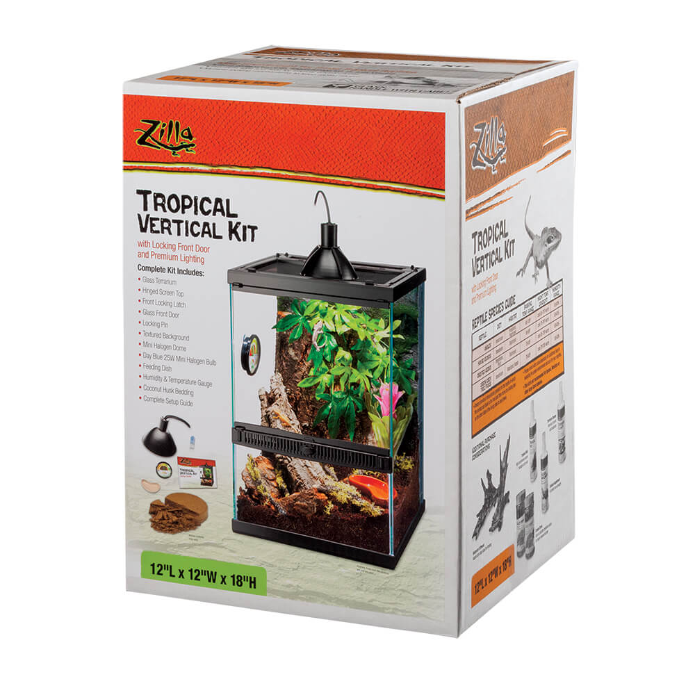 Zilla Tropical Veritcal Kit with Front Locking Door