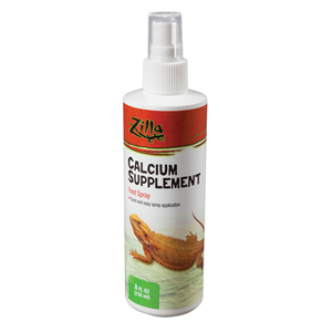 Zilla Calcium Supplement Food Spray for Reptiles